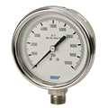 "Pressure Gauge - 100 PSI Analog - 4"" Face w/ cal"