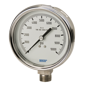 "Vacuum Gauge - 30"" Hg Analog - 4"" Face w/ cal"