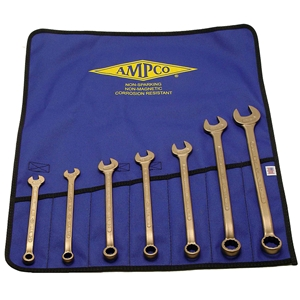 Non-Ferrous Combo Wrench Set - Inch or Metric - 7 piece