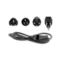 Power Cord,  (IPA-3400)  C-13 - with Interchangeable US, UK, AUS and Euro Plugs